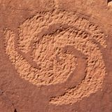 Spiral Petroglyph. Chipped into rock at Dinosaur National Monument, Utah, U.S.A Royalty Free Stock Photography
