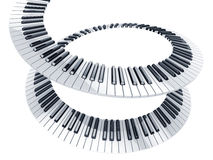 Spiral piano keys Stock Images