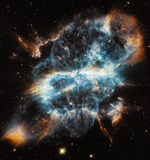 Spiral Planetary Nebula, Nebula Royalty Free Stock Photos