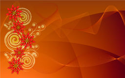 Spiral poinsettias abstract background Stock Images
