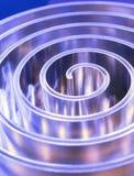 Spiral polerad metall för metall grunt djupfält Arkivbilder