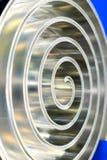 Spiral polerad metall för metall grunt djupfält Royaltyfri Foto