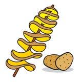 Spiral potatis stock illustrationer
