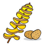 Spiral potato Stock Photography