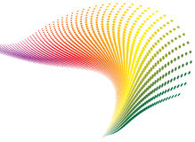 Spiral rainbow. Twisted spiral rainbow that would make an ideal wallpaper or desktop Royalty Free Stock Photo