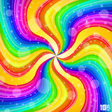 Spiral rainbow background. Art creative. Vector illustration Royalty Free Stock Image