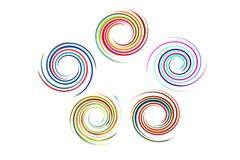 Spiral rainbow background Royalty Free Stock Images