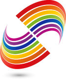 Spiral or rainbow in color, painter and rainbow logo. Spiral or rainbow in color, colored, painter and rainbow logo Royalty Free Stock Photos