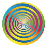 Spiral Rainbow Colored Circle vector illustration