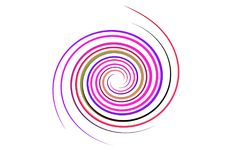 Spiral rainbow on isolated Stock Images