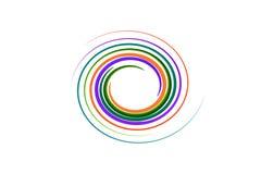 Spiral rainbow on isolated Stock Photo
