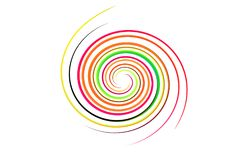 Spiral rainbow on isolated Stock Photos
