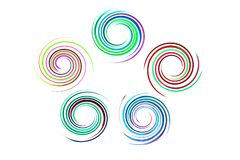 Spiral rainbow on isolated Royalty Free Stock Photography