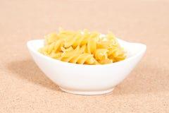Spiral raw macaroni pasta Royalty Free Stock Photography