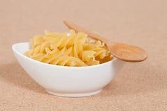 Spiral raw macaroni pasta Stock Photography