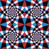 Spiral red and blue whirls seamless pattern. Stock Photos