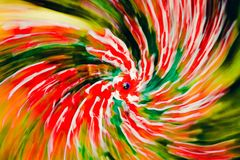 Abstract red Spiral with blue eye. Impressionism Photography royalty free illustration