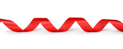 Spiral red ribbon Stock Photo