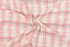 Spiral red tartan fabric Stock Image