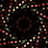 Spiral of red, white and green squares stock photography