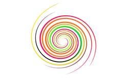 Spiral regnbåge på isolerat Arkivfoton