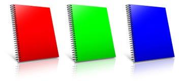 Spiral RGB binder. Stock Photos