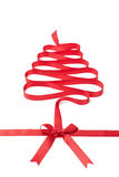 The spiral ribbon looks as Christmas tree Royalty Free Stock Photos