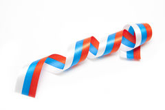 Spiral ribbon from russian flag Royalty Free Stock Photos