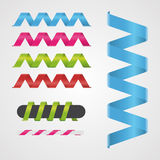 Spiral ribbon vector illustration. Can be use for web, every objects, gifts Stock Image