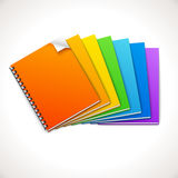 Spiral Ring Notebooks Rainbow. Vector illustration Stock Image