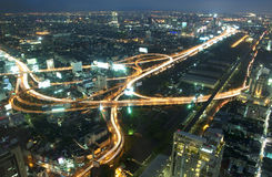 Spiral road in Bangkok at Night Royalty Free Stock Photo