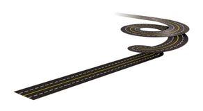 Spiral road concept illustration Stock Images