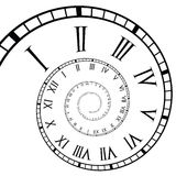 Spiral Roman Numeral Clock Time-Line. Roman clock time-line in a spiral form Royalty Free Stock Photography