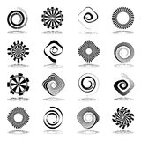 Spiral and rotation abstract icons. Royalty Free Stock Photo