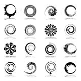 Spiral and rotation design elements. Royalty Free Stock Photo