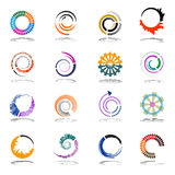 Spiral and rotation design elements. Abstract icon Stock Image