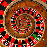 Spiral Roulette. The concept of gambling at roulette, spanning a player in a spiral vortex Stock Image
