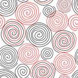 Spiral sömlös modellbakgrund Stock Illustrationer