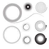 Spiral samling för vektor för design Vektor Illustrationer