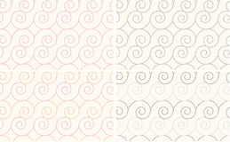 Spiral Seamless abstract  pattern Royalty Free Stock Photos