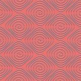 Spiral seamless bakgrund Royaltyfri Fotografi