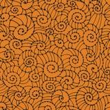 Spiral seamless lace pattern. Stock Photo