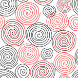 Spiral seamless pattern background Royalty Free Stock Image