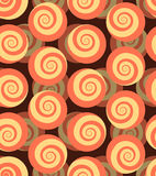 Spiral seamless pattern. 3d background of snails.  Stock Images