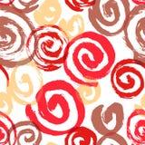 Spiral seamless pattern. Hand drawn artistic ink circles.Colorfu Stock Photo