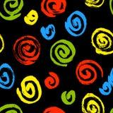 Spiral seamless pattern. Hand drawn artistic ink circles. Royalty Free Stock Photo