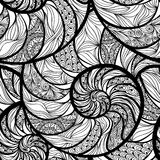 Spiral seamless swirl  pattern Wave ocean seashell background Stock Images