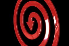 Spiral shape arrows Royalty Free Stock Image