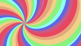 Spiral shape rainbow colors seamless loop rotation animation background new quality universal motion dynamic animated. Spiral shape colors seamless loop rotation stock video