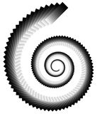 Spiral shape made of overlapping rectangles. Abstract monochrome Stock Photos